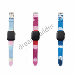 L Moda Watchbands iPhone Watch Band 42mm 38mm 40mm 44mm IWatch 3 4 5 Bantlar Deri Kayış Bilezik Çizgili Bırak