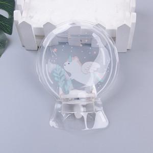 Botella de agua caliente de PVC transparente Mini redondo Mini Mano Pequeño Relleno Bolsos de agua caliente Bolso de agua Unicornio cálido 151 G2