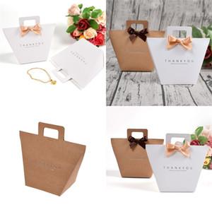 Kraft papel embalagem sacos simplicidade presença de curva saco de cor de impressão de cor de perfume Souvenir Shape Bolsas 0 72HB F2
