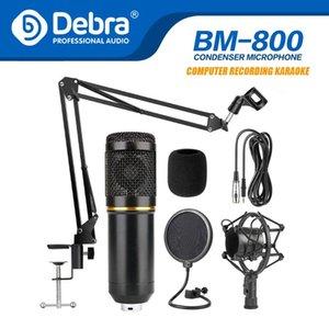 Debra BM-800 stüdyo kondansatör mikrofon seti, akıllı telefonlar, PC,, canlı yayın ve şarkı söyleme kaydı için ses kartlarıyla birlikte kullanılır
