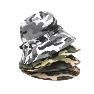 Cloches Men Women Camouflage Bucket Hat Outdoor Hunting Camping Boonie Fishing Fisherman Sun Cap Fashion Unisex Accessories