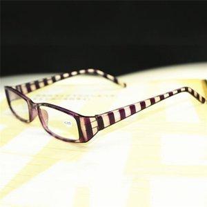 Şık Rahat Çizgili Erkekler Bayanlar Okuma Gözlük Çerçevesi Plastik Tasarım Karşıtı Yorgunluk Presbiyopik 1,0-4,0 R047 Glasses