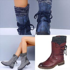 UtT woman Rois Boots Nylon Derby Ankle Shoes boots Women flat winter boot for Best Battle Leather Shoes Black Rubber Sole PlatformNylon