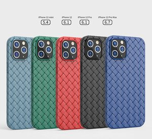 Suitable for Apple 12 mobile phone case 12ProMax creative woven pattern iPhone12mini all-inclusive anti-fall soft shell