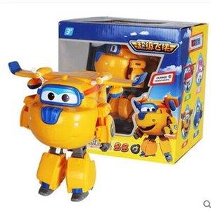 Большой !!! см ABS Супер Крылья Деформация Самолет Робот действий Цифры Супер Wing Transformation игрушки для детей подарочные Brinquedos