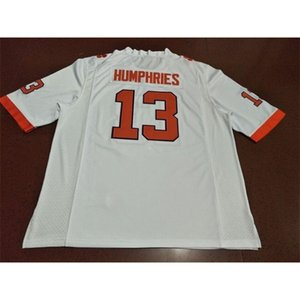 Uomini Clemson Tigers # 13 Adam Humphries Orange White College Jersey o personalizzato Qualsiasi nome o Numero Jersey