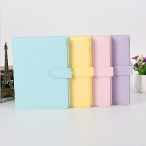 Empty Notebook Binder Loose Leaf Notebooks without Paper PU Faux Leather Cover File Folder Spiral Planners Scrapbook 4 Colors A6 DWB2907