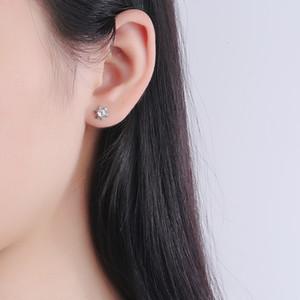 FactoryR9ZUwith Earrings S925 Diamond Earrings Silver Snowflake