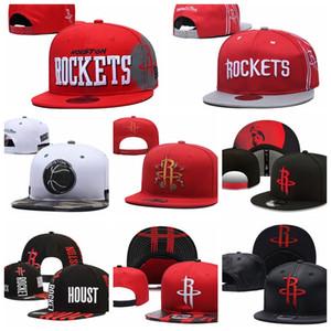 HoustoncohetesHombres Sport Caps HOMBRES MUJERES JÓVENES HOU 2020 Tip-Off de la serie 9FIFTY ajustable del Snapback del sombrero del baloncesto púrpura