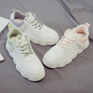 2021 New Fashion women running shoes trainers shadow Flat Triple White pink green grey Lightweight outdoor sneakers great quality