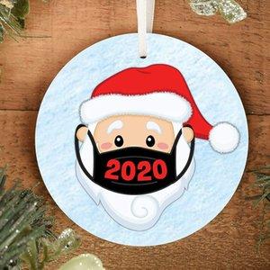 4 renk Noel Süsler Süsleri Yuvarlak Kare Shape süslemeler Boş Sarf Noel ağacı kolye FWF2512 baskı transfer