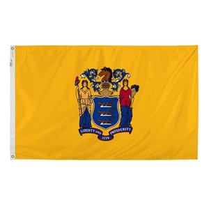 New Jersey Flag State of USA Banner 3x5 FT 90x150cm State Flag Festival Party Gift 100D Polyester Indoor Outdoor Printed Hot selling