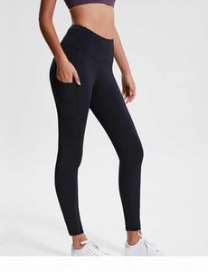 women yoga outfits ladies sports yoga leggings ladies pants exercise & fitness Wear Girls Running yoga pants side pockets