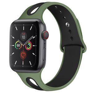 Apple Watch 밴드 42mm 38mm 44mm 40mm 스트랩 실리콘 IWATCH 밴드를위한 시계 밴드 SE 6/5/4/3/2/1 SE 81003