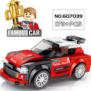 Famous Sports Cars Series Super Speed Champions Racing Car Building Block Racer technic Bricks Car Toy for Kids