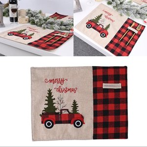 Hot Sale Table Cloths Car Christmas Tree Mat Family Dining Xmas Red Black Lattice Tablecloth Collapsible Home Restaurant Decor 9 21cy