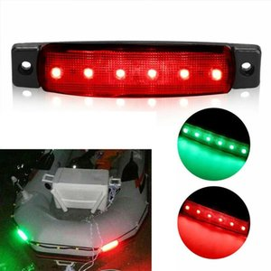 4pcs Led Long Strip Side Lights Waterproof Boat Navigation Port And Starboard Lights Car Truck Side Lamps Car Accessories