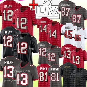 12 Tom Brady 13 Mike Evans Jersey 87 Rob Gronkowski 14 Chris Godwin 45 Devin Branco Jersey 28 Leonard Fournette 27 Ronald Jones II Football