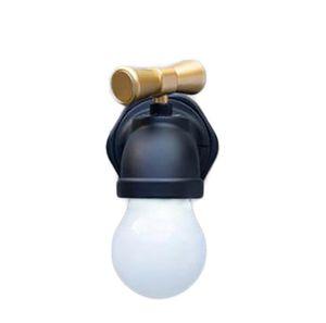 Enerji Tasarruflu Çift Modlu Kalıcılık ve Sensör Gece Işık Bağbozumu Musluk Şekli USB Şarj Edilebilir Duvar Işık ve Koridor Gece Lambası