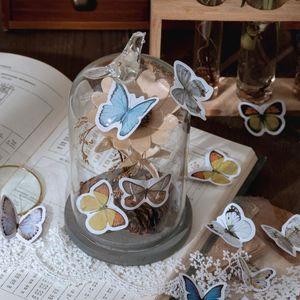 46 Pcs Caixa dos desenhos animados Kawaii Sealing presente da colagem da borboleta adesivos decorativos Scrapbooking Back To School personalizado Planner adesivo wmtCnw