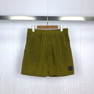 21SS STONE Spring ISLAND Summer Beach Shorts Men Women Quick-Dry Casual Compass Badge Embroidery 042304