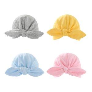 Baby Indian Hat Neugeborenen Elastische Baumwolle Baby Beanie Cap Bogen Multi Farbe Infant Turban Hüte Baby Stirnband ZYY552