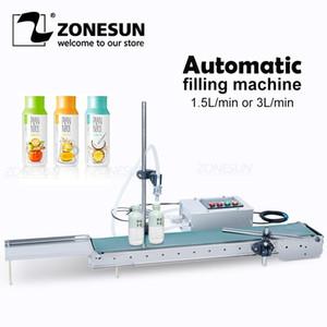 ZONESUN AUTOMÁTICA AUTOMÁTICA Máquina de llenado de líquido eléctrico Botella de agua Bomba digital para perfume bebida bebida jugo de oliva