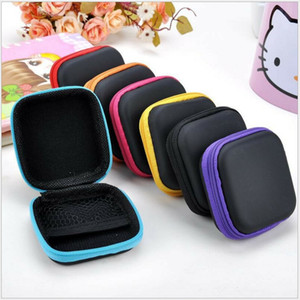 Headphone Case PU Leather Earbuds Pouch Mini Zipper Earphone box Protective USB Cable Organizer Fidget Spinner Storage Bags LLS535