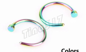 Nose Rings Body Piercing Fashion Jewelry Stainless Steel Nose Hoop Ring Earring Studs Fake Nose Rings Non Piercin jllFtV yummy_shop