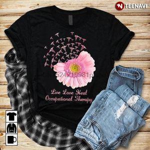 Männer-T-Shirt Live Love Heilen Occupational Therapy Daisy T-Shirts Sport T-Shirt Hoodie