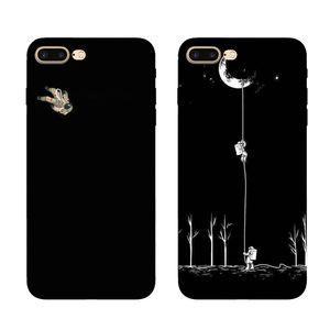For Apple iPhone 7 8 6S plus xsmax r se2 moon astronaut case