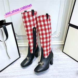 knee boots-41 Air French brand womens Luxuries shoes with Calfskin Leather Sneaker fashion Booties basketball shoes with Box free shipping