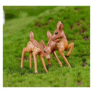 miniature deer lover cartoon fawn doll moss terrarium creative craft micro landscape ornaments desktop diy accessories zakka fairy