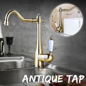 Xueqin cobre antigo bacia banheiro torneira Deck Montado Single Handle clássico Mixer Tap torneira pia do banheiro água quente e fria