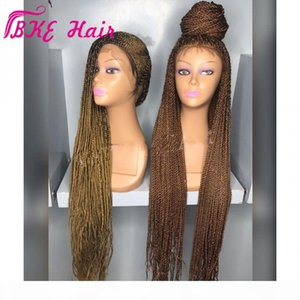 Стоковая Фотография Burgundy Brown Senegalese Twist Wig Synthetic Crchetet Cooks Парик Full Lace Frontal Frontal Micro Book Wig с волосами младенца