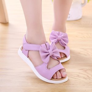 Kids Girl Shoes Sandals Summer Children Sandals Fashion Bowknot Girls Flat Pricness Shoes Baby Toddler Shoes Sandals For Girls