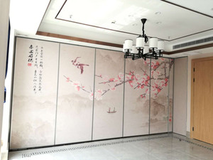 exhibition hall operable wall   movable wall  glass partition  partition  folding door