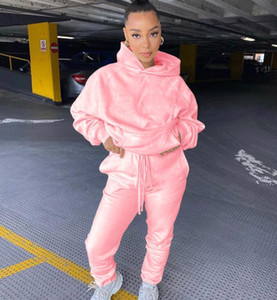 Women Sport Tracksuits Women Two Piece Clothing Set Tracksuit Patchwork Hoodie Sweatshirt Long Pant Jogger Outfit Set Female Sweat Suits