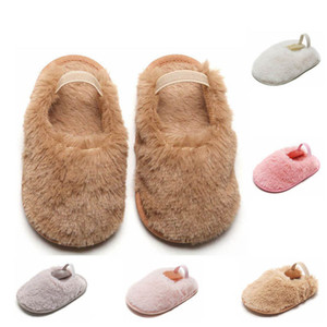5Color fur baby shoes infant shoes cute toddler shoes moccasins soft baby first walking shoe baby slippers newborn slippers B3601