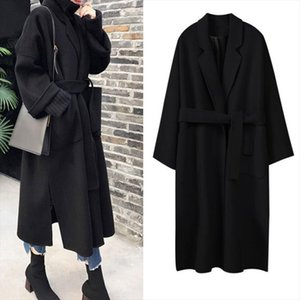 Lanxirui lange Mantel-Wintermantel Frauen Belted Fest Damen Jacke Damen 5 Farben Wolle