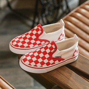 Zapatos para niños Acgicea cuadrícula de lona respirable los holgazanes de las zapatillas de deporte casuales Calzado para Niños Niñas