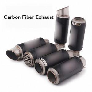Motorrad-51 / 60mm Auspuff Carbon-Faser-Schalldämpfer Flucht Tipp Schwanz Entlüftungsrohr für Universal Motorrad YHVd #