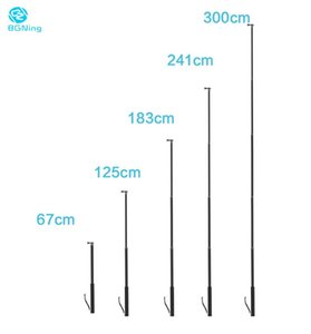 BGNing lunga distanza selfie Stick 6 sezioni treppiede per fotocamere Sport Telefono clip 3meters Tablet Supporto Max