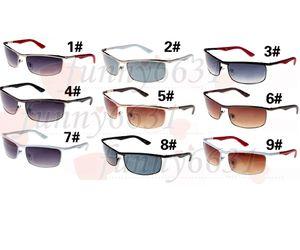 10 stücke sommer outdoor mode kleine sonnenbrille für mann reise brille männer metall rahmen sport fahrer sonnenbrille 9 farbenfrei versand