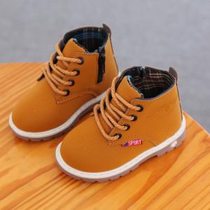 Peluche Shoes 2020 bambino Nuovo Autunno / Inverno Per Fashion Boy / Girl 1 2 3 4 5 6 anni bambini Colore Nero Marrone Rosso Martin Boots