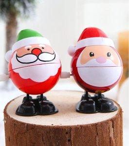Рождественская пластиковая игрушка Windup Santa Claus Snowman Clockwork Toys Дети прыгать подарок мультфильм персонажи моделирование партии украшения GWE2066