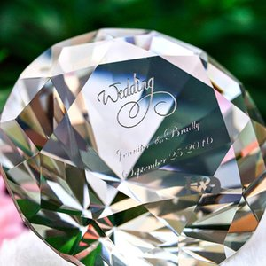 H&D Personalized Clear Crystal Diamond Paperweight Jewels Nail Dispaly Prop Mother's Day Gift Wedding Favor Centerpieces Decor