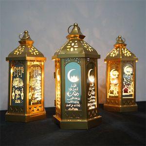 Ramadan Lamp Eid Mubarak Ramadan Party LED висит фонари 14 * 28 см Теплые огни ислама мусульманские события вечеринка украшения GWA3527