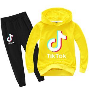 vestito del hoodie il tempo libero con Tik Tok di stampa per i bambini alla moda del modello Hyun-chae vari colori per opzione