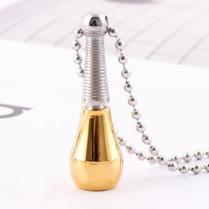 Fashion Stainless Pendant Necklace Steel Perfume Bottle Cremation Ashes Urn Memorial Chain Necklace Jewelry Hot Sale for women